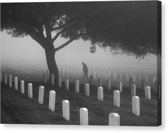 Ghost In The Graveyard Canvas Print