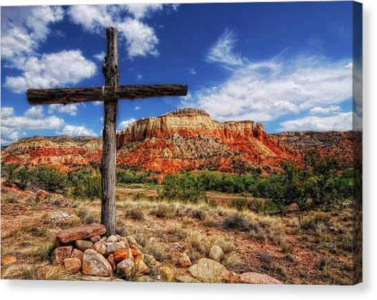 Ghost Ranch Cross Canvas Print