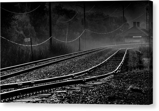 Thomas The Train Canvas Print - Ghost Tracks by Thomas Young