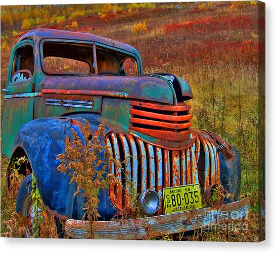 Ghost Truck Canvas Print