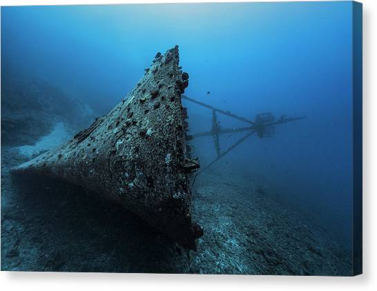 Ghost Wreck Canvas Print by Barathieu Gabriel