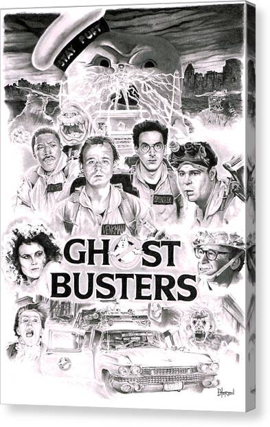 Ghostbusters Canvas Print - Ghostbusters by David Horton