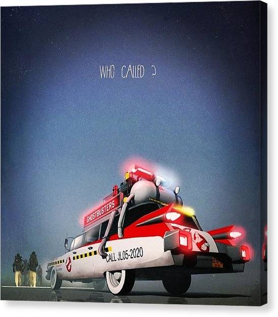 Ghostbusters Canvas Print - #ghostbusters #ecto-1 #1984 by Martin Page