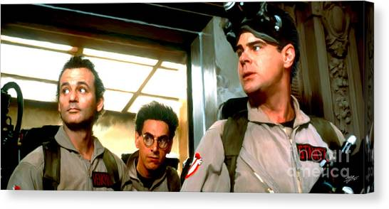 Ghostbusters Canvas Print - Ghostbusters by Paul Tagliamonte