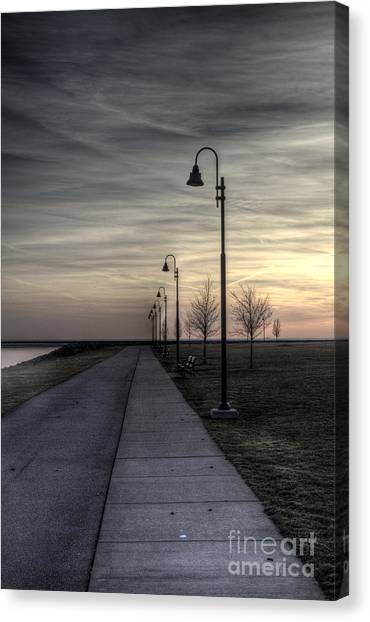 Ghostly Walkway Canvas Print
