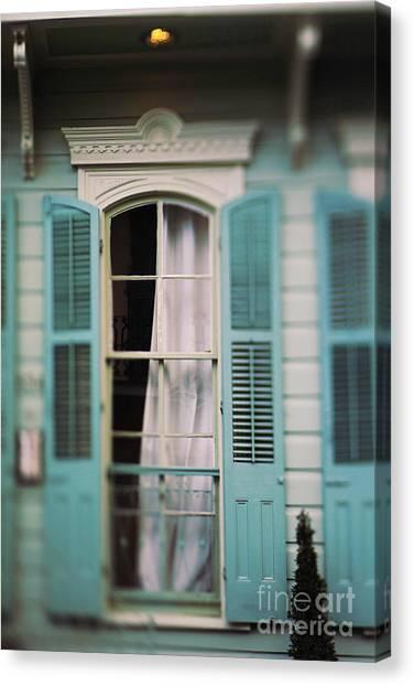 Ghostly Window Canvas Print