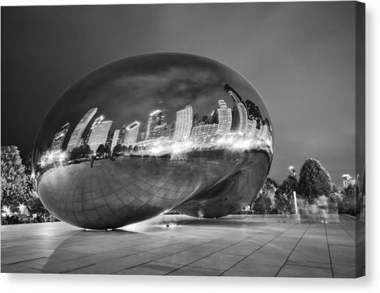 The Bean Canvas Print - Ghosts In The Bean by Adam Romanowicz