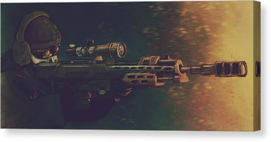 Call Of Duty Canvas Print - Ghosts by Nayu Avilsin