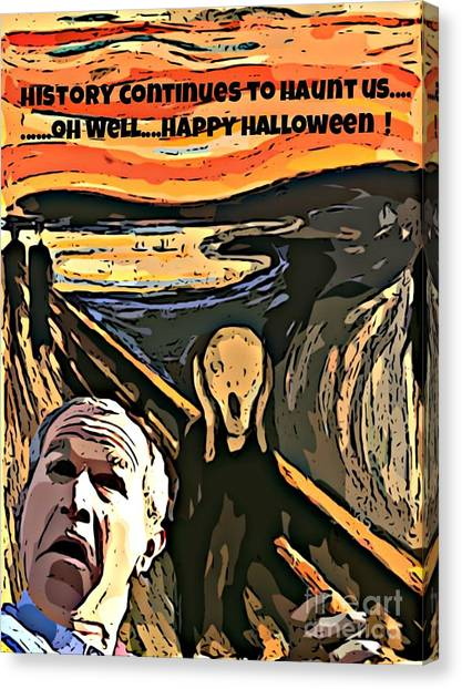 George Bush Canvas Print - Ghosts Of The Past by John Malone