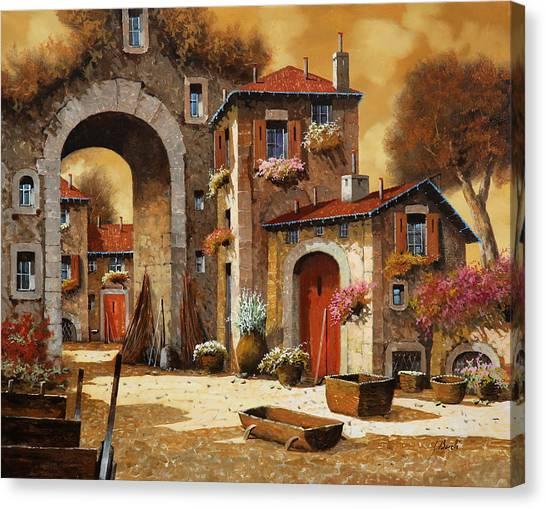 Carts Canvas Print - Giallo by Guido Borelli
