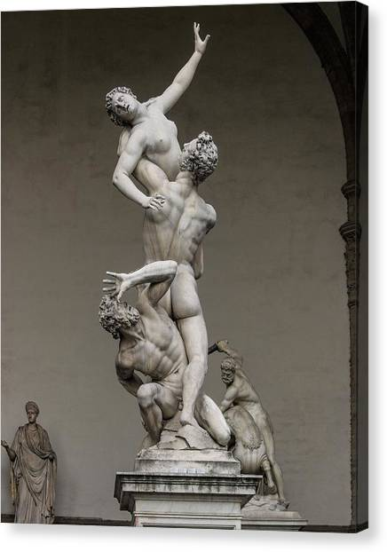 The Uffizi Gallery Canvas Print - Giambologna's Rape Of The Sabine Women by Brian Gadsby