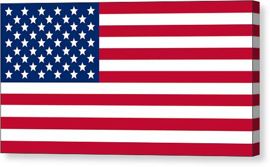American Flag Canvas Print - Giant American Flag by Ron Hedges