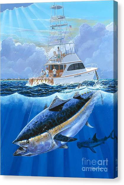 Swordfish Canvas Print - Giant Bluefin Off00130 by Carey Chen