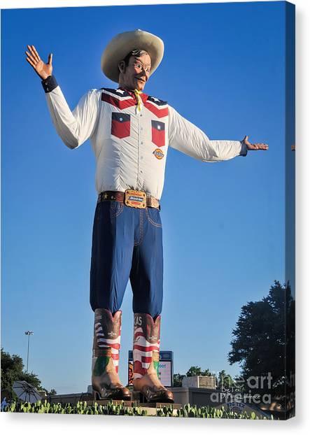 Giant Cowboy Big Tex State Fair Of Texas Canvas Print