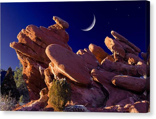 Giant Footprints At The Garden Canvas Print