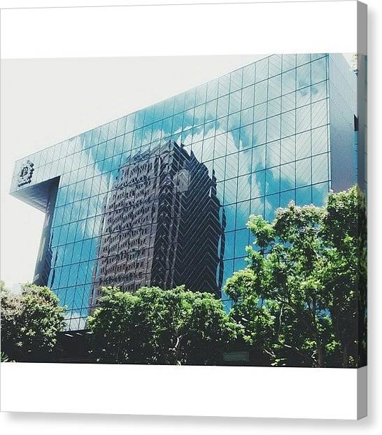 Orchard Canvas Print - #giant #mirror #tower #blue #sky by Ryan Nguyen