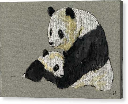 Japan Canvas Print - Giant Panda by Juan  Bosco