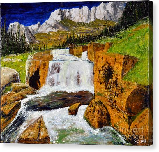 Giant Steps Waterfall Canvas Print