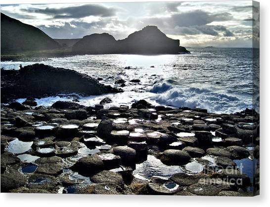 Giant's Causeway Sunset Canvas Print