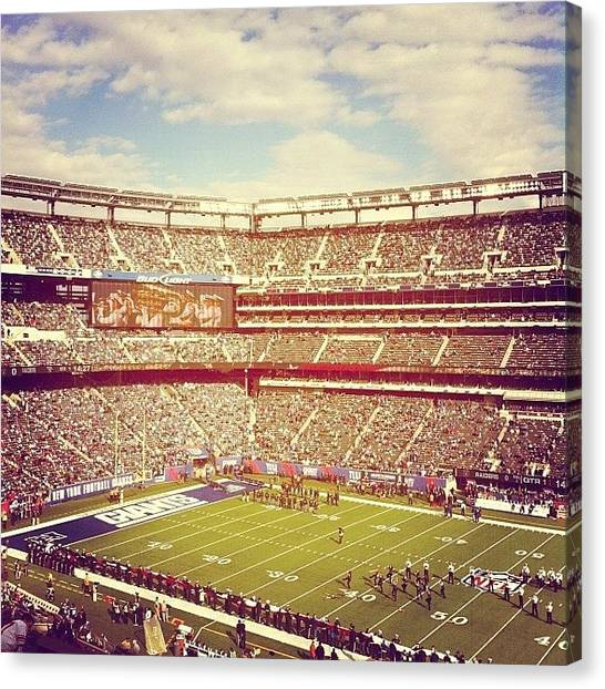 Football Players Canvas Print - Metlife Stadium by Yash Shah