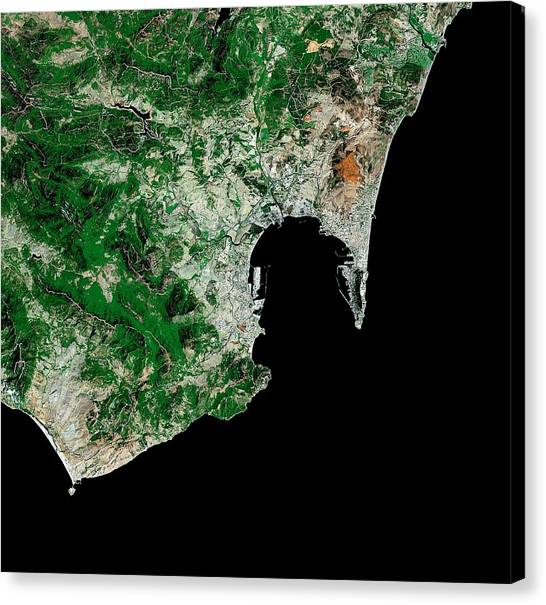 Mount Vesuvius Canvas Print - Gibraltar by Mda Information Systems/science Photo Library