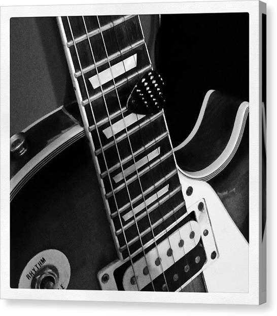 Guitar Picks Canvas Print - #gibson #style #guitar With by Bradley Nelson