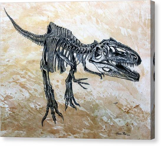 Dinosaurs Canvas Print - Giganotosaurus Skeleton by Harm  Plat