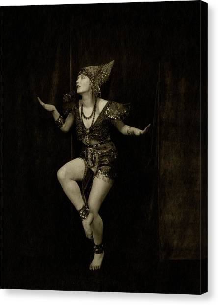 Arms Outstretched Canvas Print - Gilda Gray In Character As A Javanese Dancer by Edward Steichen