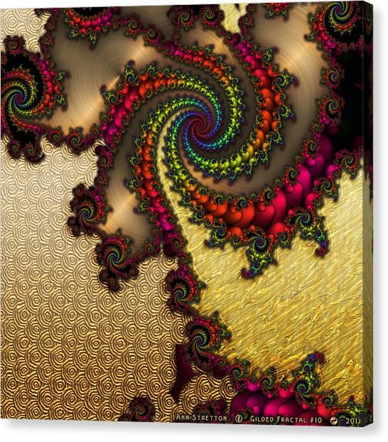 Gilded Fractal 10  Canvas Print