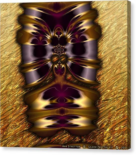 Gilded Fractal 11  Canvas Print