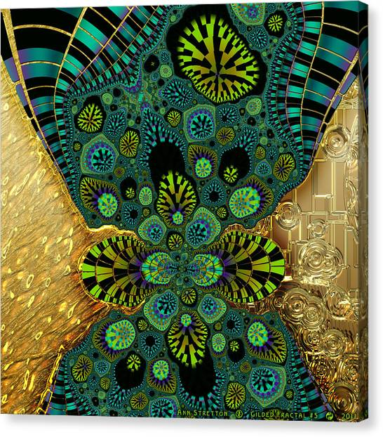 Gilded Fractal 5  Canvas Print