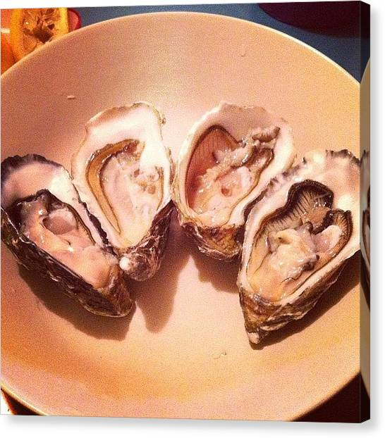 Oysters Canvas Print - Gillardeau #gillardeau #oyster by TC Li