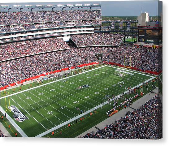 Patriot League Canvas Print - Gillette Stadium by Georgia Fowler
