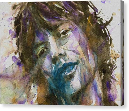Singers Canvas Print - Gimmie Shelter by Paul Lovering