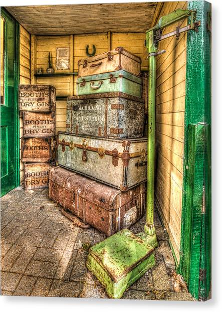 Gin And Baggage Canvas Print