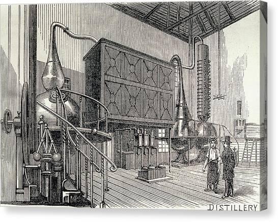 Distillery Canvas Print - Gin Distillery by George Bernard/science Photo Library