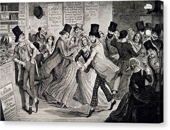 Gin Canvas Print - Gin-shop To Dancing-room by British Library