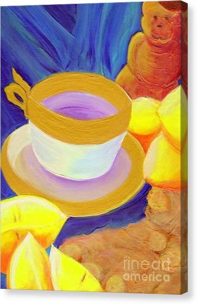 Ginger Lemon Tea By Jrr Canvas Print