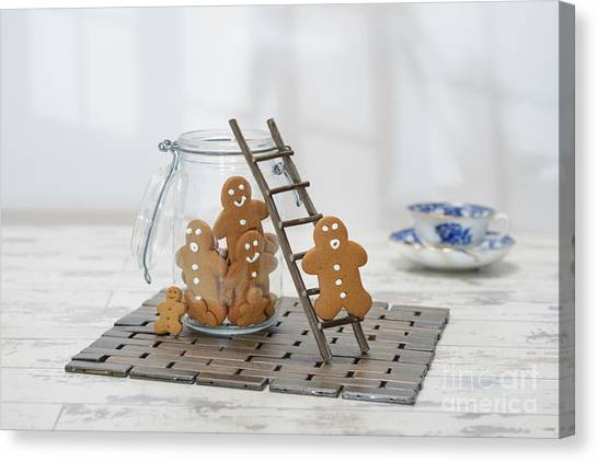 Sweet Tea Canvas Print - Gingerbread Jar by Amanda Elwell