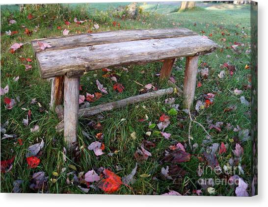 Ginny's Bench Canvas Print