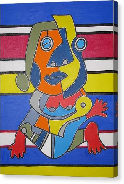 Gipsy Woman Canvas Print by Daniel Burtea