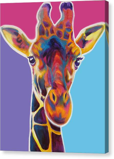 Giraffes Canvas Print - Giraffe - Marius by Alicia VanNoy Call