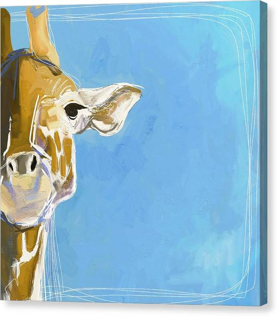 Large Mammals Canvas Print - Giraffe by Cathy Walters