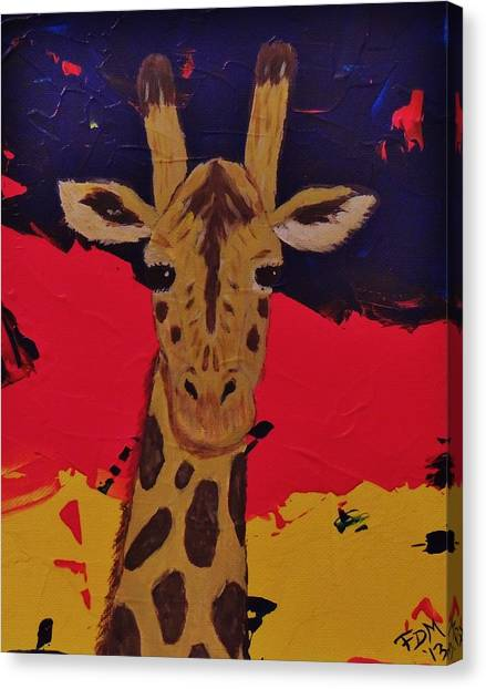 Giraffe In Prime 2 Canvas Print