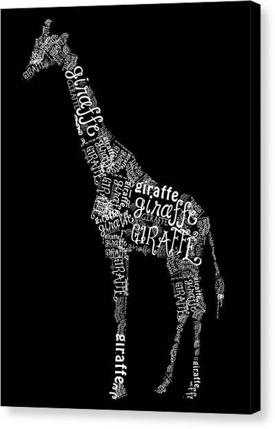 Giraffe Is The Word Canvas Print
