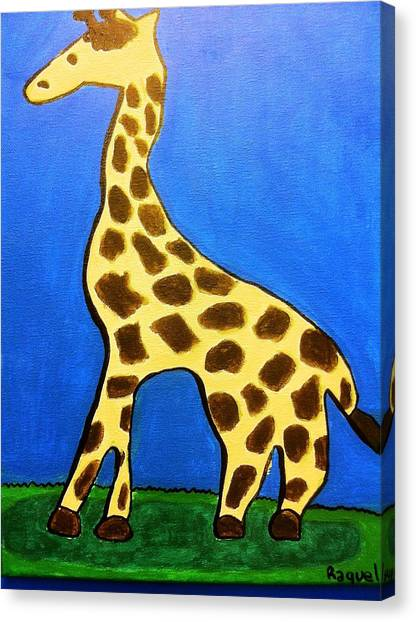 Giraffe Canvas Print by Fred Hanna