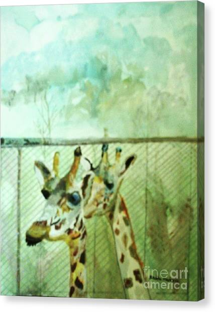 Giraffe World Canvas Print