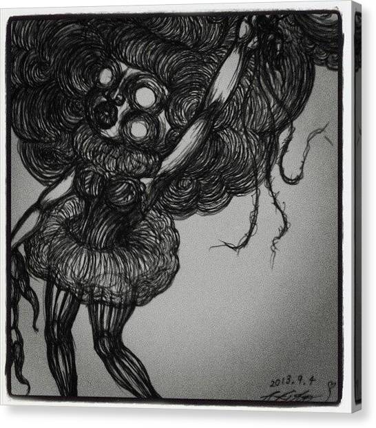 Gothic Art Canvas Print - Girl by Akiko Okabe