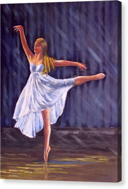 Girl Ballet Dancing Canvas Print