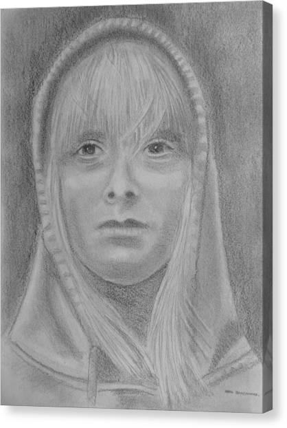 Hoodie Canvas Print - Girl Hoodie by Paul Blackmore